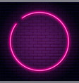 neon sign in circle shape bright light