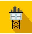 Oil platform flat icon vector image vector image
