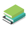 pack of books on table icon isometric style vector image vector image