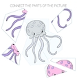 Puzzle game for children octopus vector image vector image