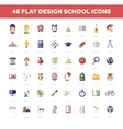 School and Education flat design icons circle vector image