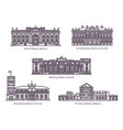 set isolated historical landmarks or palace vector image vector image