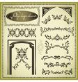 Set of decorative design elements vintage vector image
