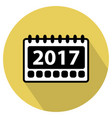 simple 2017 calendar icon vector image