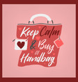 stylish handbag lettering vector image
