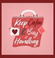 stylish handbag lettering vector image