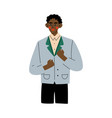 successful african american man celebrating vector image vector image