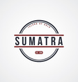 sumatra badge indonesia label theme vector image