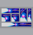 technology banner template vector image