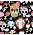 The pattern of skulls vector image vector image