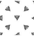 tornado pattern seamless black vector image vector image