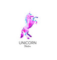 unicorn symbol in low poly style vector image vector image