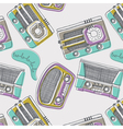 Vintage music wallpaper vector image