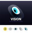 Vision icon in different style vector image vector image