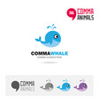whale animal concept icon set and logo brand vector image