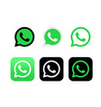 whatsapp editorial logo on white background vector image