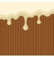 White Melted Chocolate Streams Background vector image vector image