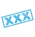 xxx rubber stamp vector image vector image