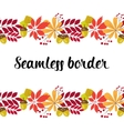 horizontal seamless border with autumn vector image