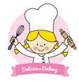 Little Chef girl vector image