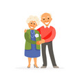 older couple vector image