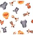 seamless pattern with Safari animals vector image