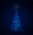 abstract christmas tree on dark background vector image vector image
