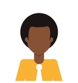 Afro people person icon avatar man vector image