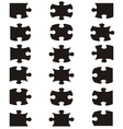 All possible shapes of jigsaw puzzle vector image