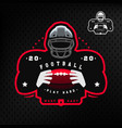 american football silhouette of a football player vector image