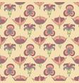 art nouveau flowers vector image vector image