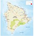 big island road map hawaii vector image vector image