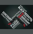 black friday sale words vector image vector image