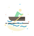 boat rowing training water abstract flat color vector image