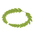 branch wreath icon isometric style vector image vector image
