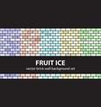 brick pattern set fruit ice seamless brick vector image