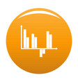 Business diagram icon orange
