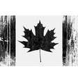 canadian flag on a wood vector image vector image