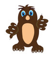 cartoon animal digger mole on white background vector image