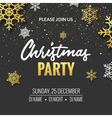 Christmas party invitation poster design Retro vector image vector image