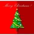 Christmas tree with toys card EPS 10 vector image vector image