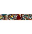 cinema hand drawn doodle banner cartoon detailed vector image vector image