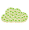 cloud mosaic of island tropic palm icons vector image