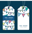 colorful doodle bunting flags vertical stripe vector image vector image