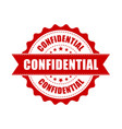 confidential grunge rubber stamp on white vector image