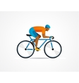 cyclist riding on bicycle vector image vector image