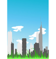day city vector image