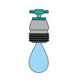 faucet with water drop frontview icon image vector image vector image