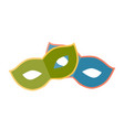 festive masquerade mask on white background icon vector image