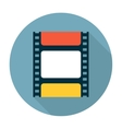 Film strip flat icon vector image vector image